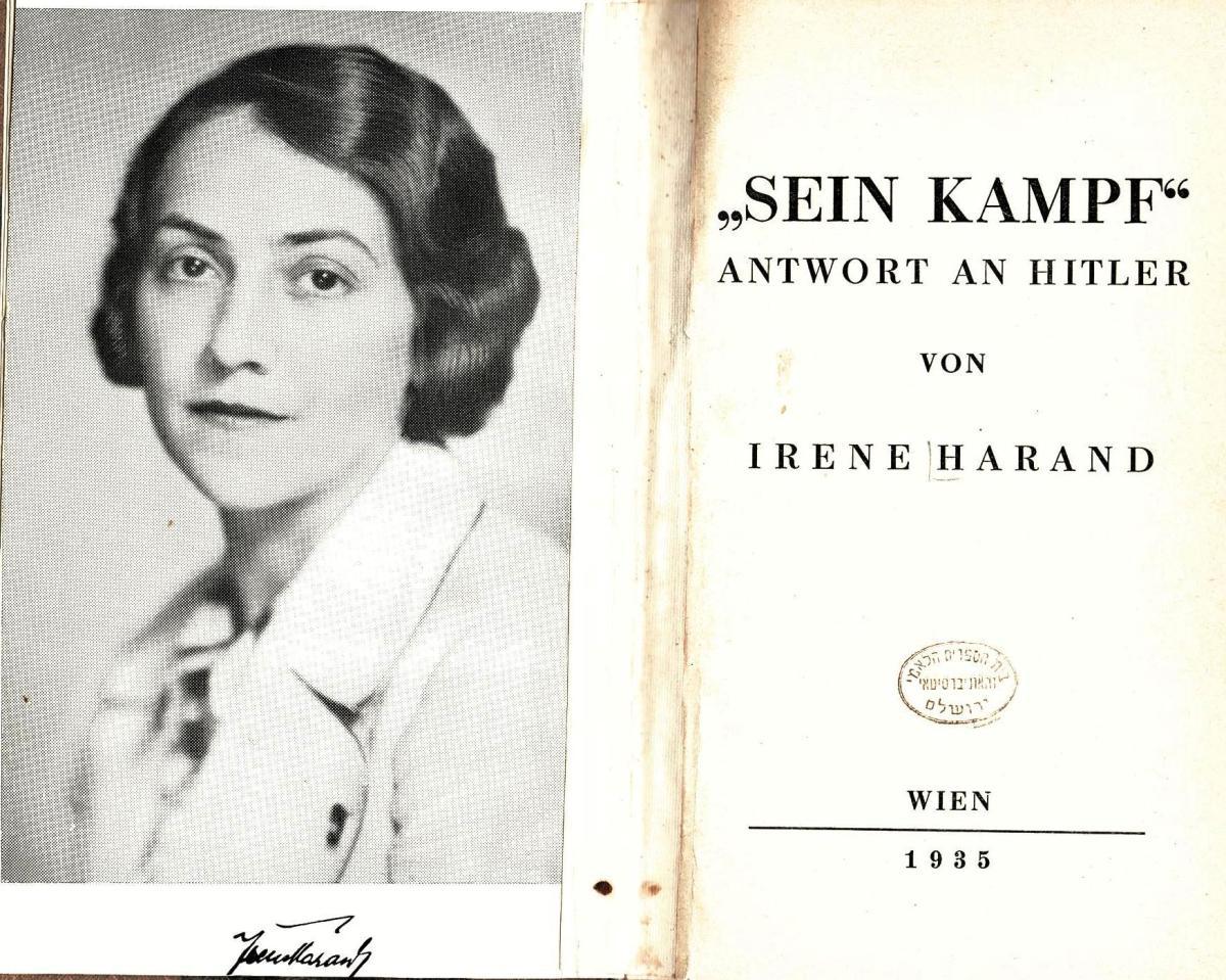 Irene Harand, la mujer que luchó contra la lucha deHitler.