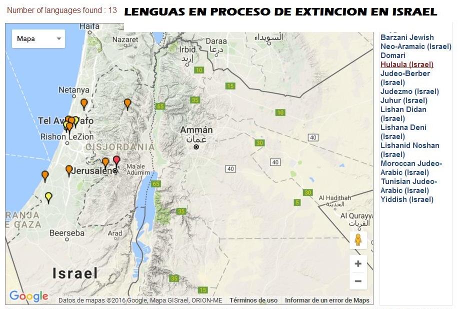 Las lenguas que se están muriendo enIsrael