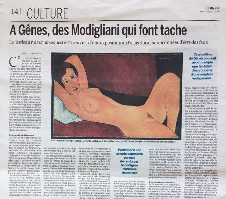 El escándalo del año:Modigliani